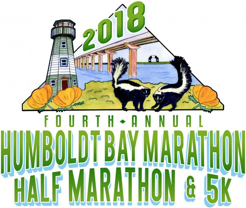 Official 2018 Humboldt Bay Marathon Logo